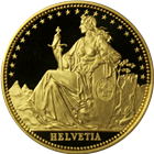 1986 Switzerland 1/2 oz Proof Gold Helvetia