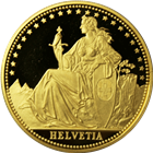 1986 Switzerland 1 oz Proof Gold Helvetia