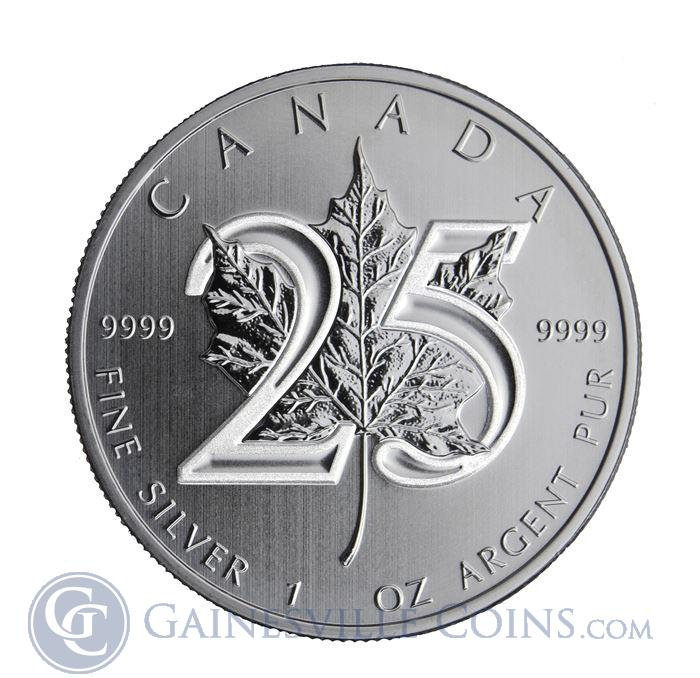 Image Showcase for 2013 1 oz Canadian 25th Anniversary Silver Maple Leaf