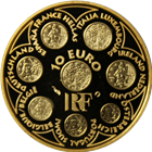 2002 France 10 Euro Proof Gold - Eight French Euro Coin Designs (.2714 oz AGW)