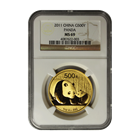 2011 1 oz Gold Chinese Panda NGC MS69
