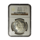 1896 Morgan Silver Dollar NGC MS64 PL