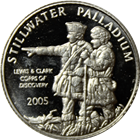 Stillwater 1/10 oz Palladium Round -  Lewis and Clark