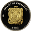2003 Mexico Bi-Metallic Gold and Silver $100 Peso Coin (With COA)