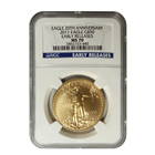 2011 $50 American Gold Eagle NGC MS70 Early Release - 25th Anniversary