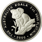 2000 2 oz Australia Proof Platinum Koala (With Box & COA)