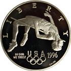 1996 Olympic Proof Silver Dollar - High Jump (With Box and COA)