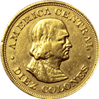 1900 Costa Rica 10 Colones Gold Coin - .2251 oz. AGW