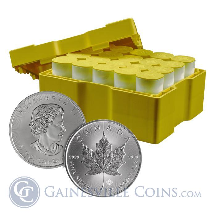 Image Showcase for 2014 1 oz Canadian Silver Maple Leaf (500 Coin Mint Sealed Monster Box) Brilliant Uncirculated