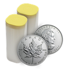 2014 1 oz Canadian Silver Maple Leaf - Mint Tube Of 25 Coins .9999 Fine (Brilliant Uncirculated)