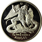 1995 Isle of Man 1 oz Proof Silver Angel