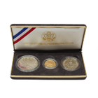 1989 Triumph Of Democracy 3-Coin Proof Gold and Silver Set - With Box and COA