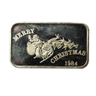 1984 Christmas Santa 1 oz Silver Art Bar  (.999 Pure)