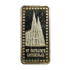 St. Patricks Cathedral 1 oz Silver Art Bar - Hamilton Mint (.999 Pure)
