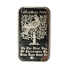 1988 Christmas 1 oz Silver Art Bar - Madison Mint (.999 Pure)