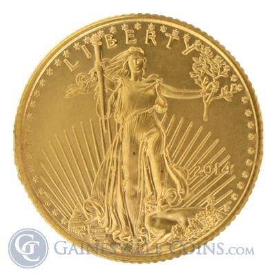 2014 1/10 oz American Gold Eagle | Buy $5 Gold Eagles Online Reverse