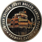 Freemont Hotel & Casino Forty Dollar Gaming Token (.999 Fine Silver)
