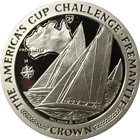 1987 Americas Cup 1 oz Palladium - Isle of Man