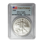 2008 American Silver Eagle PCGS MS69 First Strike