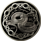 2013 10 Euro Proof Silver Snake - Paris Mint (With Box and COA) .6423 oz of silver
