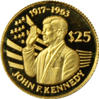 1994 Niue $25 Proof Gold Coin - Death Of John F Kennedy (.04 oz Gold)
