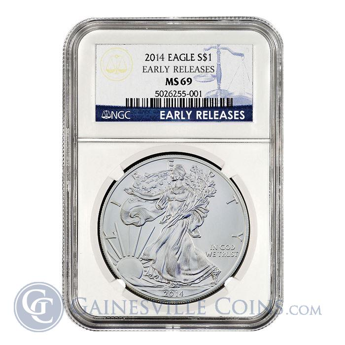 Image Showcase for 2014 American Silver Eagle NGC MS69 Early Release