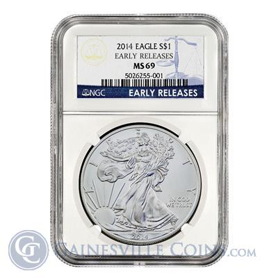 2014 American Silver Eagle NGC MS69 Early Release