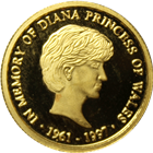 Diana Princess Of Wales 1/4 oz Proof Gold Round (.999 Pure)