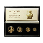 1988 Proof Gold Britannia 4 Coin Set (1.85 oz of Gold)