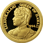 1994 Hawaii 1/4 oz Proof Gold Queen Liliuokalani
