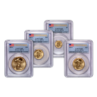 2014 American Gold Eagle 4 Coin Set PCGS MS 70 First Strike