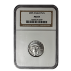 2005 $25 American Platinum Eagle 1/4 oz NGC MS69
