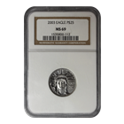 2003 $25 American Platinum Eagle 1/4 oz NGC MS69