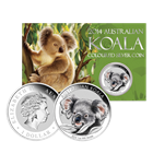 2014 Australia 1 oz Silver Koala Colorized - In Card