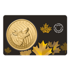 2014 Canadian Gold Howling Wolf 1 oz Coin - Call Of The Wild Series (.99999 Pure!) In Card