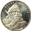 1995 Merry Christmas Santa Clause 1 oz Silver Round (.999 Pure)