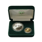 1995 American Eagle $10 Gold Coin and Silver Dollar Set (With Box and COA)