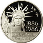 1986 France 100 Franc Proof Palladium Statue Of Liberty (.4919 oz of Palladium)