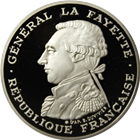 1986 France 100 Franc Proof Palladium General Lafayette (.4919 oz of Palladium)