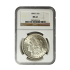 1890-S Morgan Silver Dollar NGC MS61