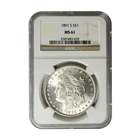 1891-S Morgan Silver Dollar NGC MS61