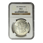 1921 Morgan Silver Dollar NGC MS61