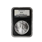 1989 1 oz American Silver Eagle MS69 NGC (Retro Holder)