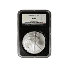 2001 1 oz American Silver Eagle NGC MS69 (Retro Holder)