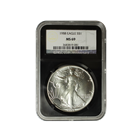 1988 1 oz American Silver Eagle NGC MS69 (Retro Holder)