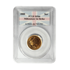 2000 Gold British Sovereign PCGS MS66 Millennium First Strike (.2354 oz of Gold)