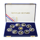1992 France Albertville Olympics 10 Coin Proof Gold and Silver Set (5.78 oz ASW & .50 oz AGW) With Box and COA