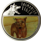 2011 Last Tasmanian Tiger Proof Silver Lenticular 3-D Coin Niue - With Box and COA
