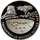 2012 South Africa Gold Treasures Of Mother Nature Proof Silver Coin - Fiji (.6430 oz ASW)