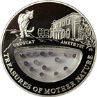2012 Uruguay Amethyst Treasures Of Mother Nature Proof Silver Coin - Fiji (.6430 oz ASW)